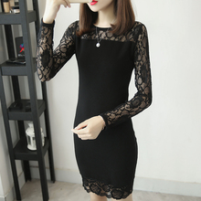 Lace long sleeve and cut-out panel fit new top