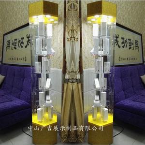 手机珠宝玻璃展柜旋转化妆品产品精品首饰品口腔牙模展示柜亚克力手机展示柜