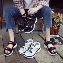 New sports Korean Velcro sandals with thick soles