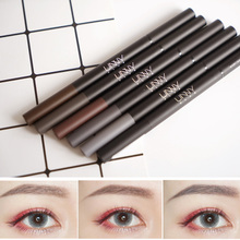 Small love South Korea UNNY double head automatic rotation eyebrow pencil, eyebrow pencil beginners waterproof and sweat prevention, do not dizzy dye with eyebrow brush
