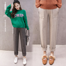 Wool, autumn and winter wear casual pants