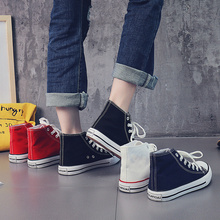 High top canvas new Korean small white cloth shoes