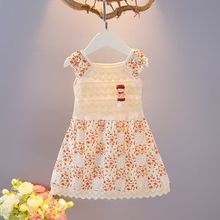 Girls' skirt summer 2019 new baby princess skirt children's baby baby children's dress floral 0-3 years old