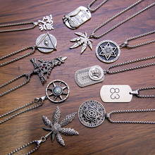 Titanium steel non-fading hip-hop personality Cross Necklace male hiphop pendant accessories sweater chain female