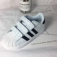 Shell top high quality children's couple genuine leather parent child shoes