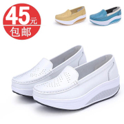 shook his nurse shoes white leather shoes 2014 new shoes slope with heavy-bottomed platform shoes shoes autumn shoes