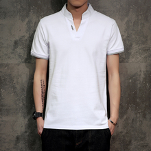 Men Leisure Cotton Tee Shirt male camisa polo shirts 男士T恤