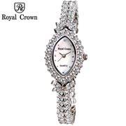 Royal Crown Luoyakelang signorina Shi Ying contatore genuino femminile forma di diamante orologio da polso orologio di diamanti 3588