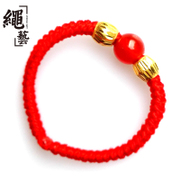 Rope gold red rope ring gold transport Bead Bracelet benmingnian red agate Passepartout to send his girlfriend