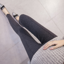 Spring and autumn pregnant women's Bottomwear fashion Korean pregnant women's pants autumn dress horizontal line thin pregnant women's pants pants small feet