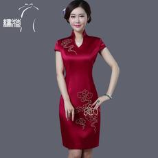 Платье Ципао Embroidered Lotus 14101039/1 2017