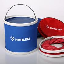Authentic Harlem outdoor folding 9L portable Oxford cloth car wash Bucket Bucket Bucket folding