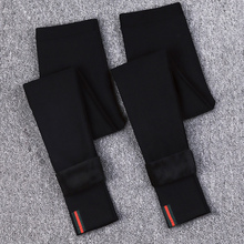 Korean spring and autumn black new style pants with plush legs