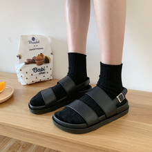 Slim and thin Korean ulzzang Baitains sandals female flat-soled students restoring ancient harbor wind, Roman beach shoes, Chaozhou summer
