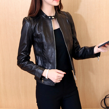 Spring and autumn new locomotive leather jacket in Korean