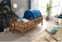 Special childrens pine wood bed and a half high bed wooden bed child Rails children bed tents bed valance