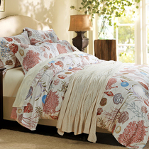 American 60 satin nude sleeping four-piece silky Egyptian cotton cotton cotton quilt cover bed linen bed shell