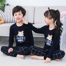Children's autumn clothes and trousers suit pure cotton baby's cotton boy thermal underwear boys'and girls' pajamas