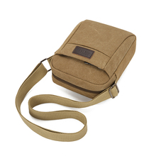 One-shoulder sloping men's BAG canvas bag new fashion outdoor recreational men's mini-backpack mobile phone bag