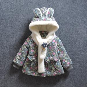 女童冬装婴儿童装小童加厚棉衣宝宝棉袄外套1-2-3岁婴儿棉服小童婴儿棉衣