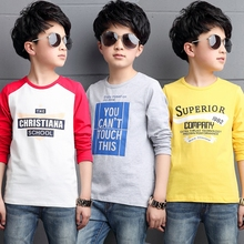 Boys' long sleeve T-shirt printed 2019 autumn new top middle and big children's round neck bottoming shirt children's cartoon T-shirt