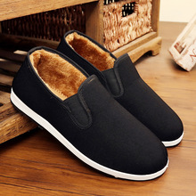 Old Beijing cloth shoes, plush, thickened, warm and non slip, one foot cotton shoes