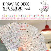 ���n���ľ� Drawing Deco Sticker Set ver �T�f������ �N��6��