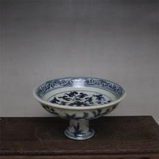 Тарелка Ming синий и белый фарфор