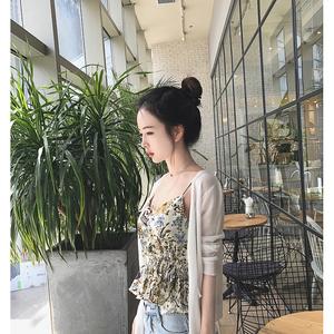 韩版宽松长袖防晒衣女2017夏季新款冰丝针织开衫薄款空调衫外套潮空调衫