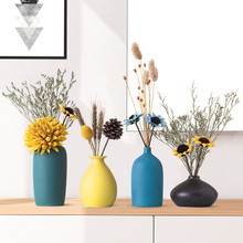 Nordic style Vase Decoration dried flowers decoration living room flower table TV cabinet household ceramic creative decoration