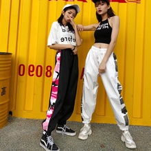 Female students' cool pants, female autumn sports pants, Korean version, trendy and loose, hip hop leisure Street in Europe and America, thin and versatile