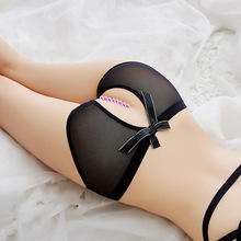 Sexy open pants underwear transparent hair exposed women's orgasm underwear open sexy underwear WW