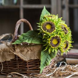 向日葵仿真花 轻奢装饰花束