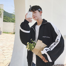 Spring and autumn Hong Kong Style BF coat men's loose Korean version trend student original accommodation style ulzzang couple handsome jacket trend