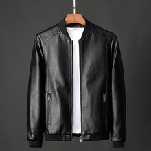 New trend slim fit Plush thickened locomotive leather jacket