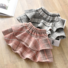 Girl's skirt new girl's airy woolen skirt in autumn and winter 2019 baby's thickened cake skirt