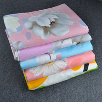 Sheets of old denim cotton one-piece double single list of pink cotton canvas linen sheet sheets