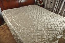 Foreign trade polyester double layer linen bed cover
