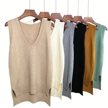 Knitting spring and Autumn New Korean V-Neck Sweater Vest
