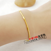 Zhou Liufu 18K Gold Bracelet jiejiegao lady K gold bracelet of fineness of gold will never fade bag mail