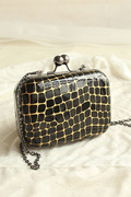 Ou Meifeng Mini retro stone grain Messenger Shoulder chain bag