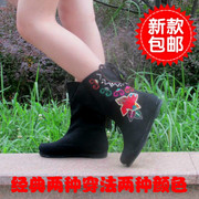 2014 new authentic old Beijing cloth shoes embroidered boots single boots Girls Spring National Wind Melaleuca Boots Boots