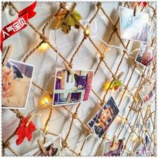 Художественное фото Декоративная ячеистая сеть пеньковая