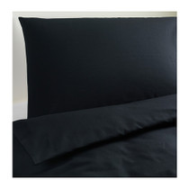 Genuine purchasing from IKEA IKEA daifula duvet cover and pillowcase black white