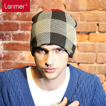 Lanmer winter wool hats knitted hats in mens hats Korean male fashion hip hop Hat flashes outside baotou caps