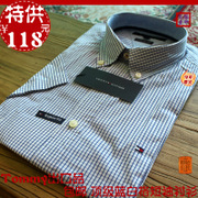 camisas de los hombres de moda casual de algodón fresca camisa a cuadros del envío libre de manga corta camisas de los hombres de los nuevos hombres