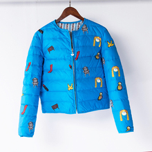 JJ European and American style thin spring and autumn new down coat