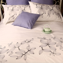 White embroidery of foreign trade export fresh embroidery simple cotton four set bedding