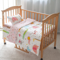 New baby bedding quilt cover bed sheet cotton bedding package kindergarten cotton twill three-set