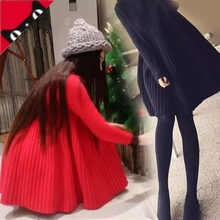Pregnant women's suit, autumn coat, sweater and flannelette, autumn and winter knitwear, pregnancy large and medium length dress